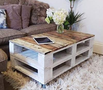 Mesa-de centro de palets madera estilo granja DYDAYA