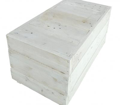 Mesa palet blanca rectangular REMAKED